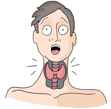 man with a thyroid condition.